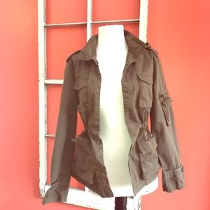 Love Tree dark green utility jacket, size small